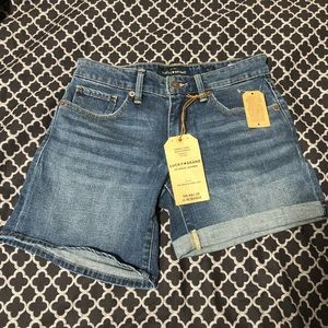 LUCKY BRAND The Roll Up Denim Jean Bermuda Shorts